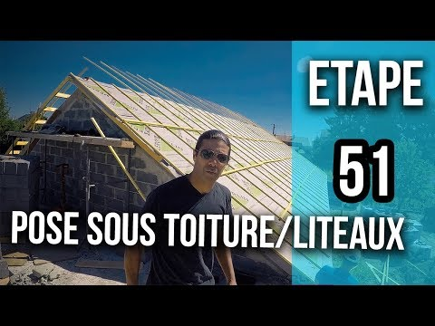 Comment Poser Du Sous Toiture Et Liteaux Sur Une Charpente Etape 51