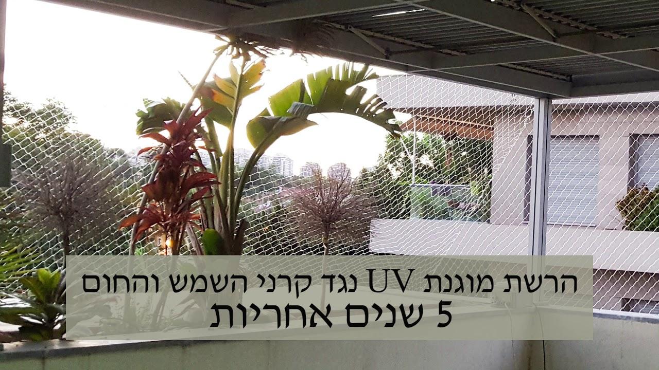 רשת שקופה נגד יונים מסביב למרפסת גדולה - כנפיים הרחקת יונים