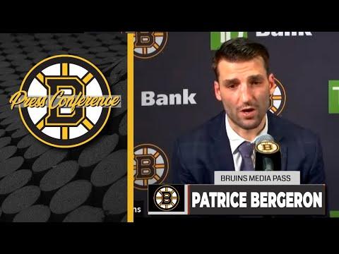 Patrice Bergeron Postgame Interview | Bruins vs. Capitals
