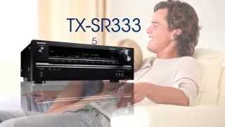 onkyo tx sr333 5 1 channel home theater receiver with bluetooth