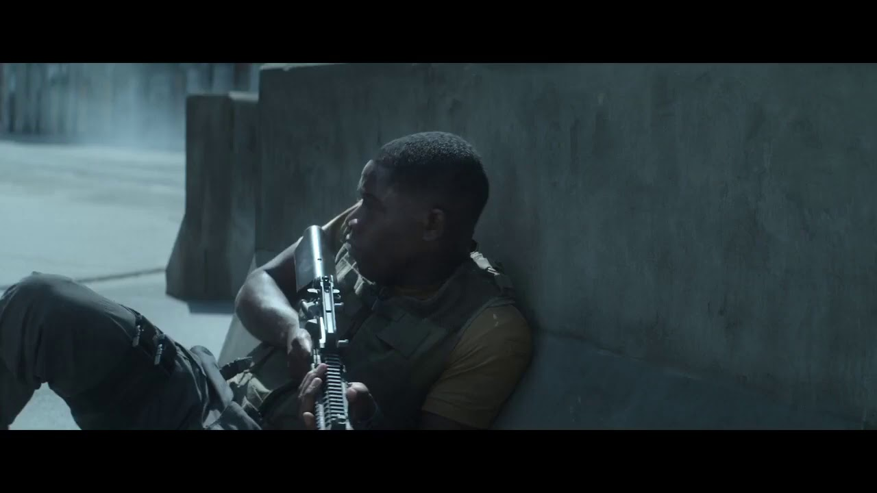Download Outside The Wire (2021) - Robot Solider Crossfire Engagement Scene
