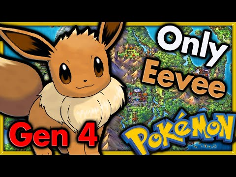 Can I Beat Pokemon Platinum with ONLY Eevee 🔴 Pokemon Challenges ► NO ITEMS IN BATTLE