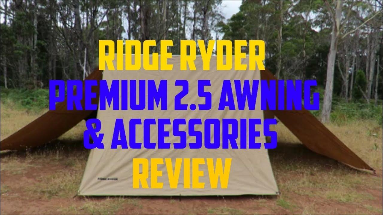 Ridge Ryder Premium Awning & Accessories - YouTube