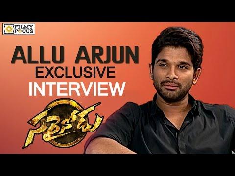 Allu Arjun Special Interview about Sarainodu Movie Success - Filmyfocus.com