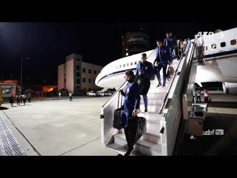 Neymar and Brazil arrive in Russia for World Cup