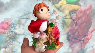 Making Ponyo and Coral Scene + Polymer Clay DIY