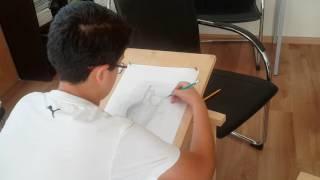 Фрагмент урока  живописи с Басе Джафаровой