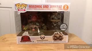 Funko Pop - Overwatch - Roadhog and Junkrat  Blizzard Exclusive SDCC 2018