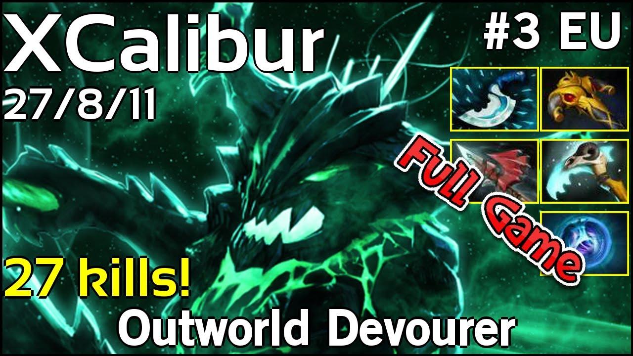 Xcalibur Outworld Devourer Dota  Full Game  Avg Mmr