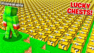 I Opened 100 Lucky CHEST Blocks In MINECRAFT!