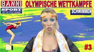 SCHWIMMEN Swimming Natación #3 - Olympic Wettkampf - Original Banni Sport Fan Style & Make-up