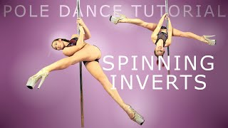 Spinning Inverts & Chopper   Pole Dance Tutorial
