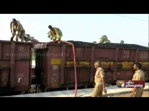 Goods train carrying coal catches fire at Gudiyatham, affecting rail traffic