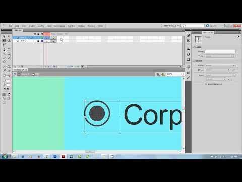 Website menu with Flash- Scripting(Animating) (Make a menu list Part)1