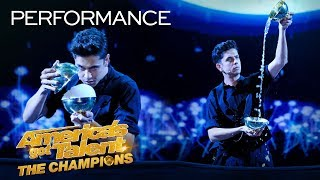 Magician Ben Hart Recreates An Indian Ritual With Rice Bowls - America's Got Talent: The Champions