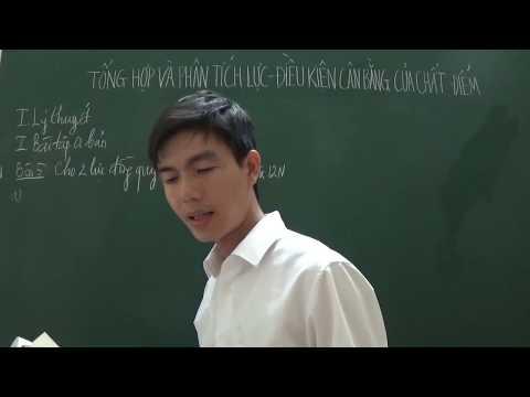 [Lý 10] - Tổng hợp và phân tích lực - Điều kiện cân bằng của chất điểm (bài tập cơ bản)
