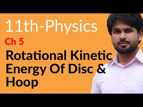 First year Physics Rotational Kinetic Energy Disc and Hoop -Physics Cha 5 Circular Motion-FSC Part 1
