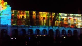 Espetaculo 3D na Praça do comercio em Lisboa Portugal