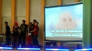 Karaoke del opening de digimon/ Convención de anime Banzai.