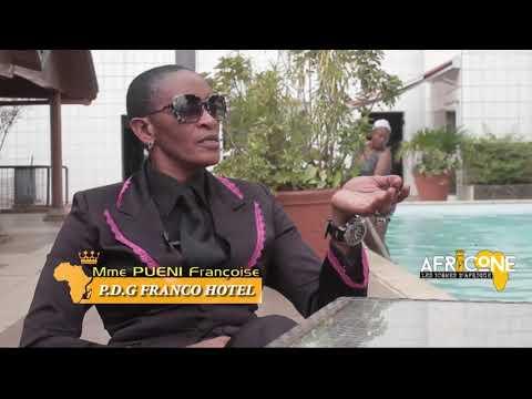 Patrice KADJI Face à Mme PUENI PDG Franco hôtel /Afrique Icone saison 2