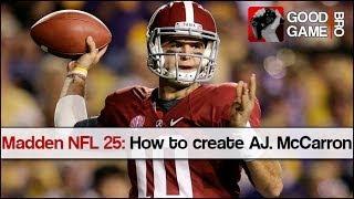Madden NFL 25: Comment créer AJ McCarron