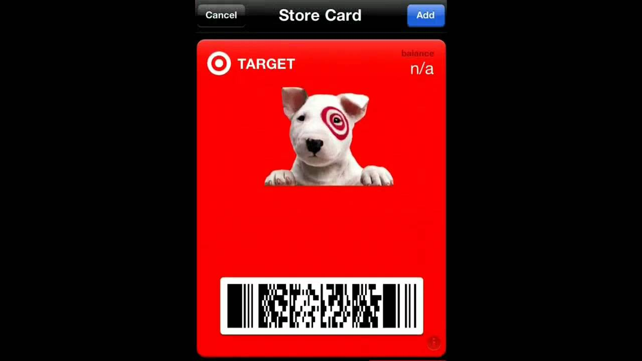 How to Create a Target Gift Card for iPhone Passbook - YouTube
