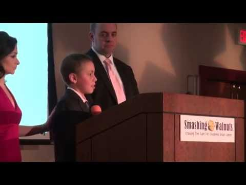 "Mathias Giordano speaks at the Jan. 2014 ""Cracking the Cure"" Gala held in Memory of Gabriella Miller"