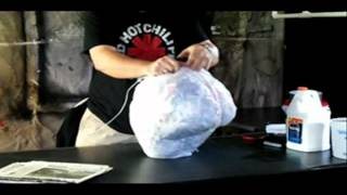 Getting started / Form building -- Part 1 of 8 - Paper Mache Pumpkin Head How-to