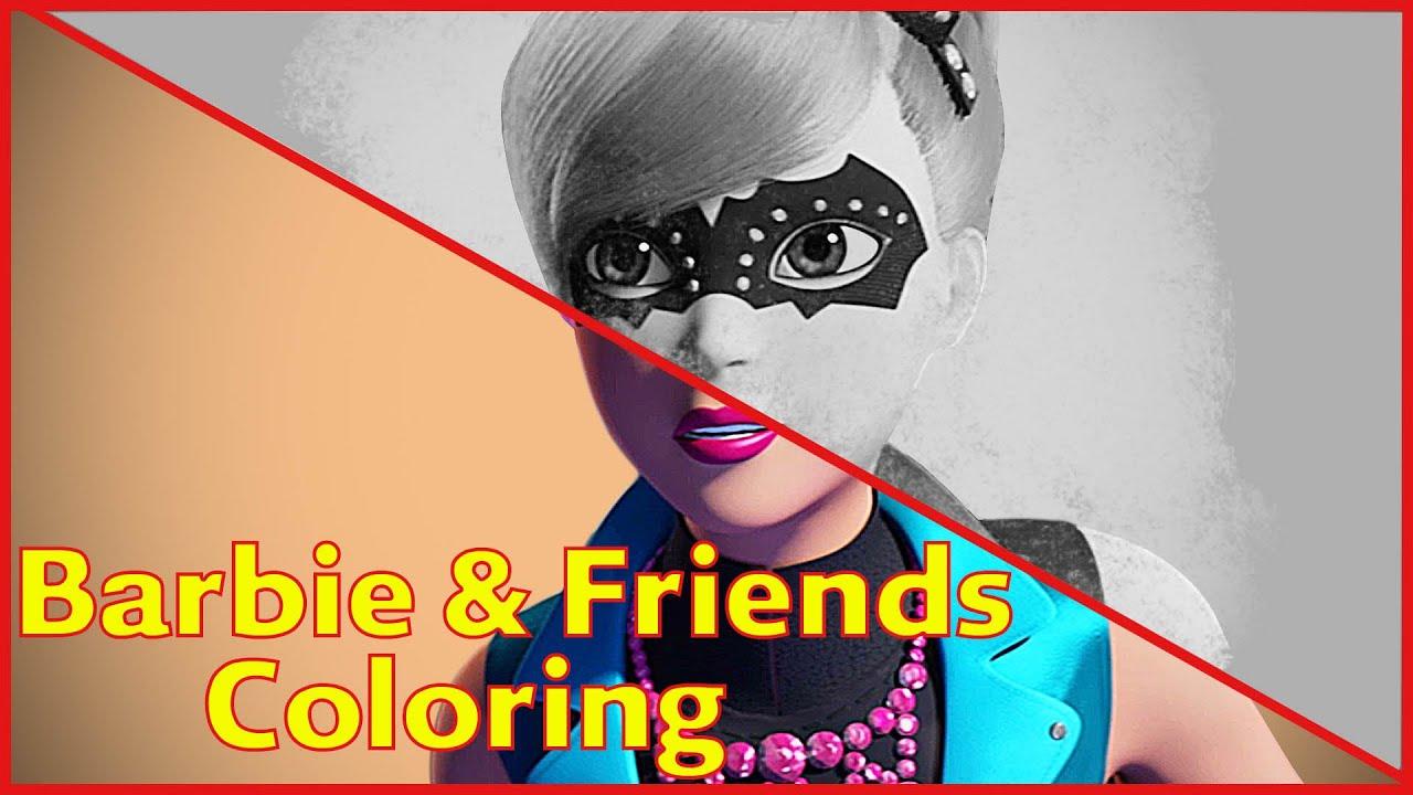 barbie coloring pages spy squad part 8 barbie coloring pages