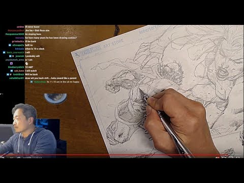 ACTION 1000 sneak peek featuring Supergirl! Art Stream with Jim Lee