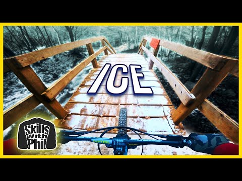 Riding Downhill Trails In Icey Conditions! 🥶| Skills With Phil