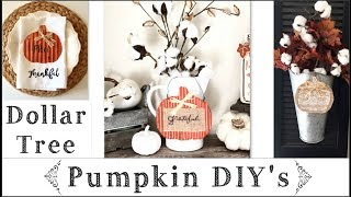Dollar Tree Diy's Fall Pumpkin Decor Ideas