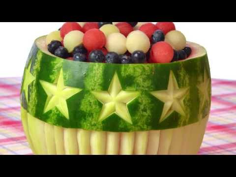 Stars and stripes watermelon bowl ideas great for th of july