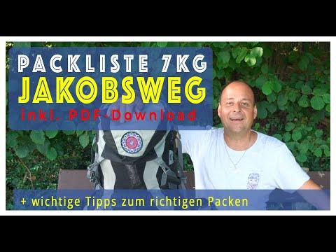 Jakobsweg Packliste unter 7kg und wichtige Tipps zum Packen (+ pdf-Download zum Ausdrucken)