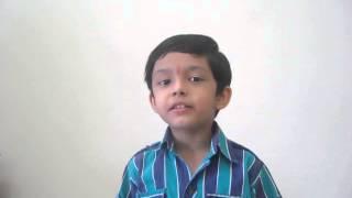 Hum Honge Kamyab Ek Din.......Song - By Atharva Balvalli.(5yrs old)