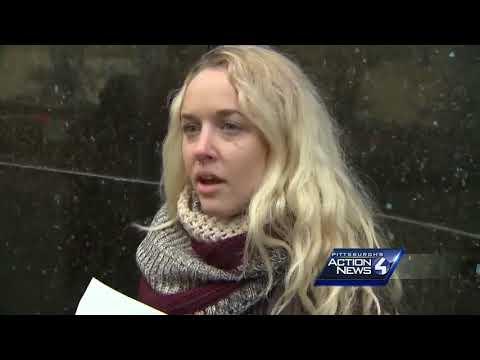 Raw video: Tax bill protest at Sen. Pat Toomey