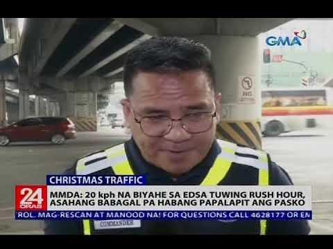 MMDA: 20 kph na biyahe sa EDSA tuwing rush hour, asahang babagal pa habang papalapit ang pasko