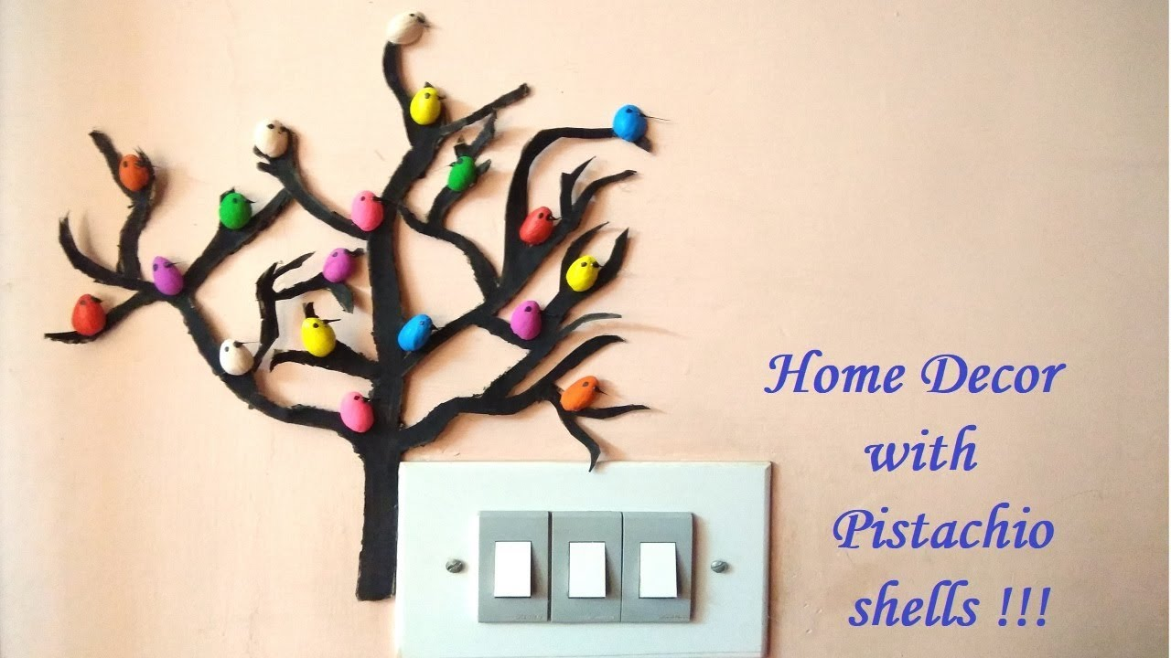 Inexpensive DIY Cardboard Tree With Birds Home Decor