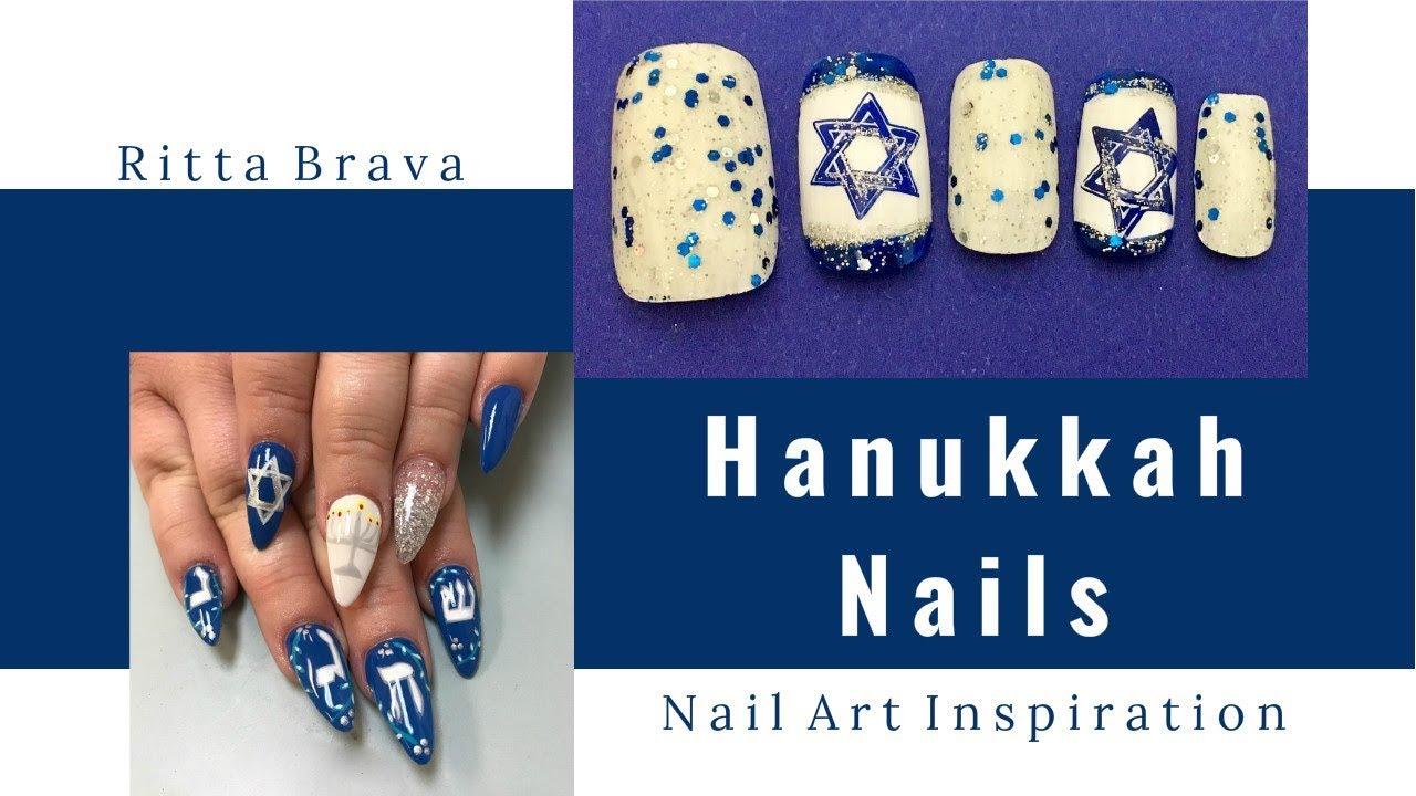 hanukkah nails - nail art ideas