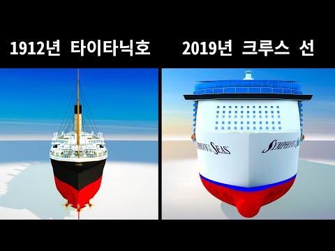 타이타닉호 vs 현대 크루즈 선