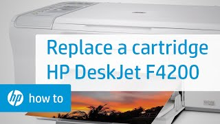 Replacing a Cartridge - HP Deskjet F4200 All-in-One Printer(Don't know which cartridge you need? Visit http://www.suresupply.com. Learn how to replace a cartridge in the HP Deskjet F4210, F4213, F4235, F4240, F4272, ..., 2010-03-09T22:40:37.000Z)