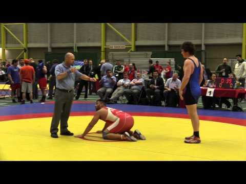 2014 Junior Greco-Roman National Championships: 96 kg Pawanpreet Sekhon vs. Angus Cowell