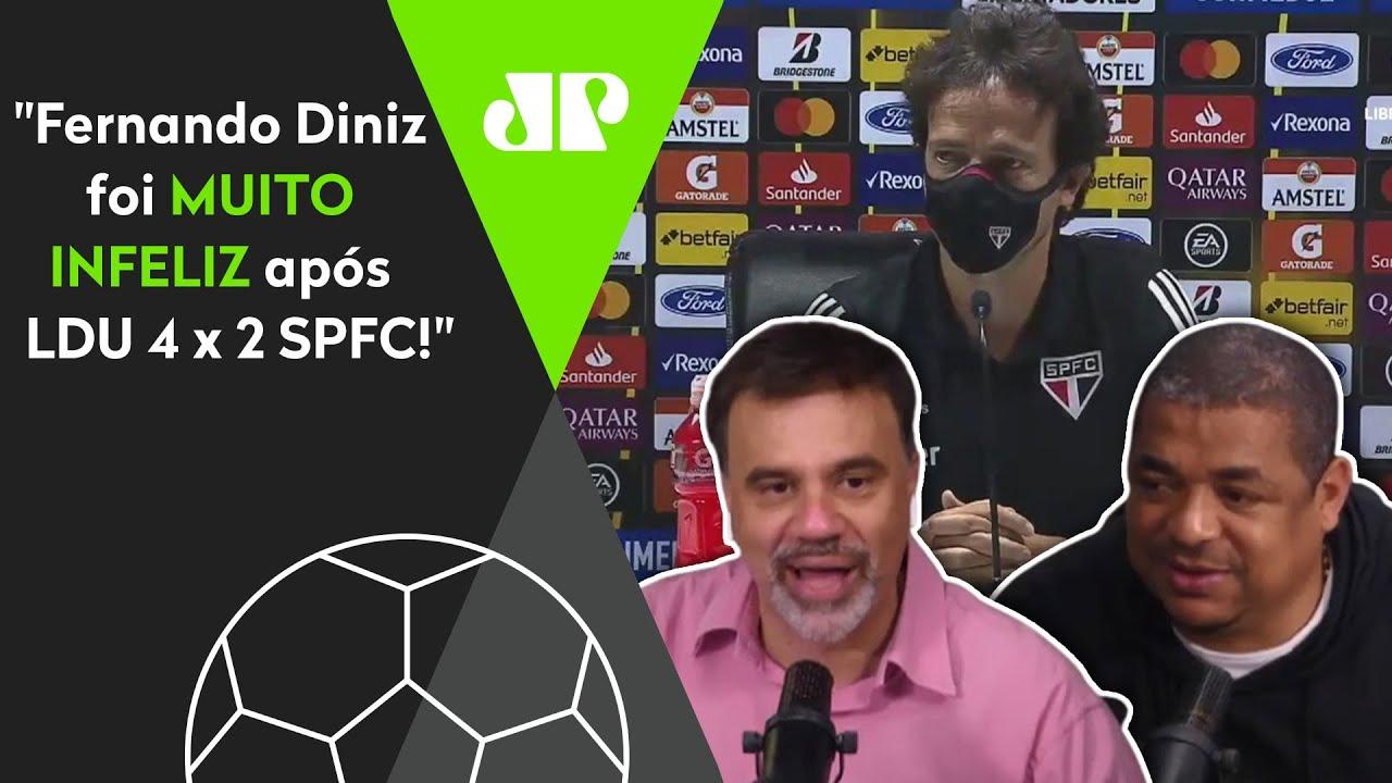 """Ganhou no 2º tempo por 2 a 1? """"O Fernando Diniz foi MUITO infeliz nessa!"""" Veja DEBATE!"""