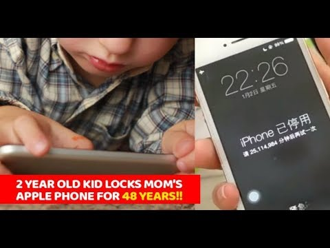 2-Yr Boy Locked Mom's iPhone For 48 Years By Entering Wrong Unlock Pin  On ios 11  apple  ipad