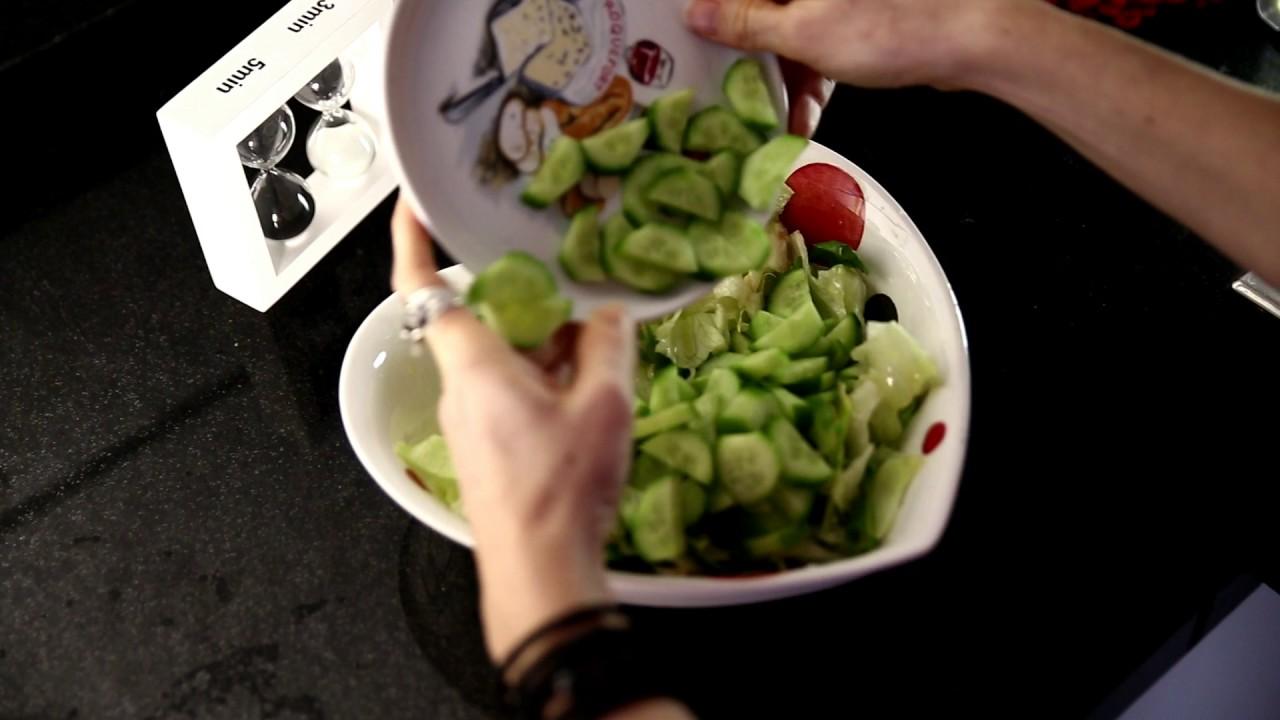 Somon ile salata: tarifi