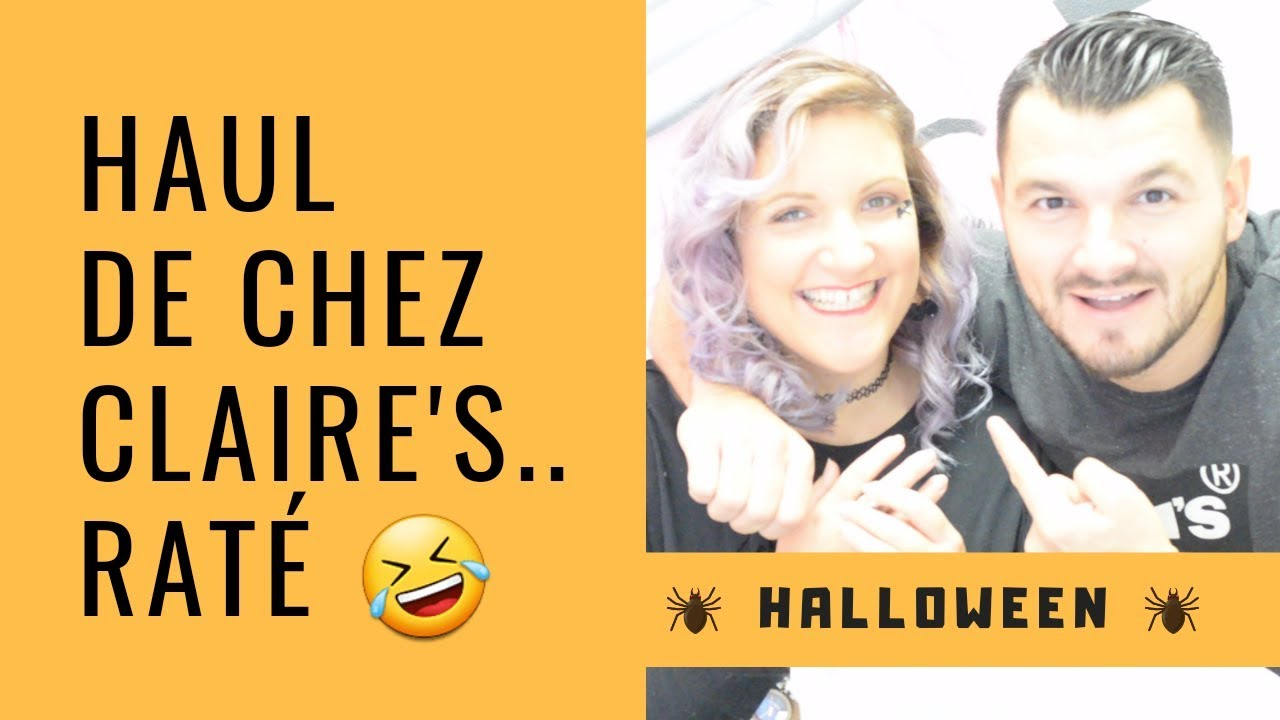 haul claire's pour halloween - youtube