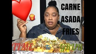 CARNE ASADA FRIES 🍟 || MUKBANG | EATING SHOW