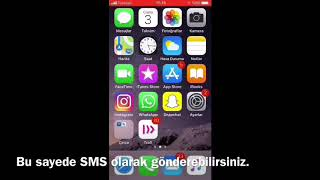 iPhone Normal Mesaj / SMS Atma