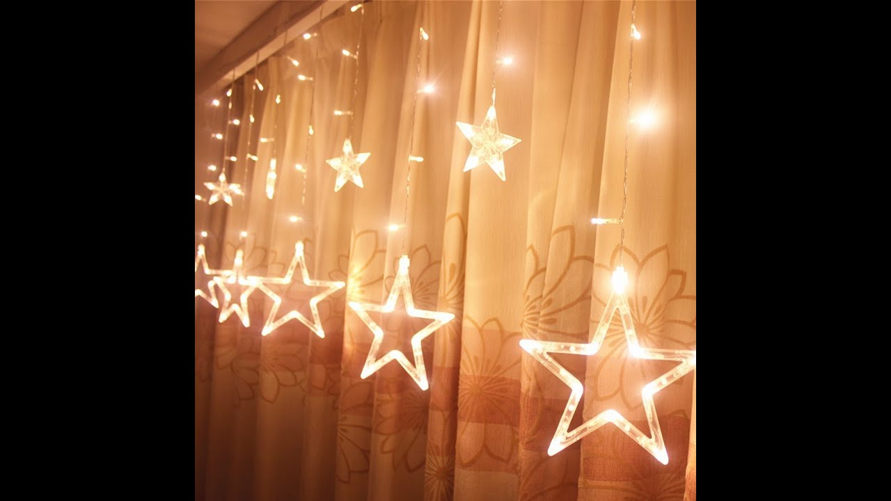 review ucharge star curtain lights with 12 stars 138pcs waterproof linkable curtain lights youtube