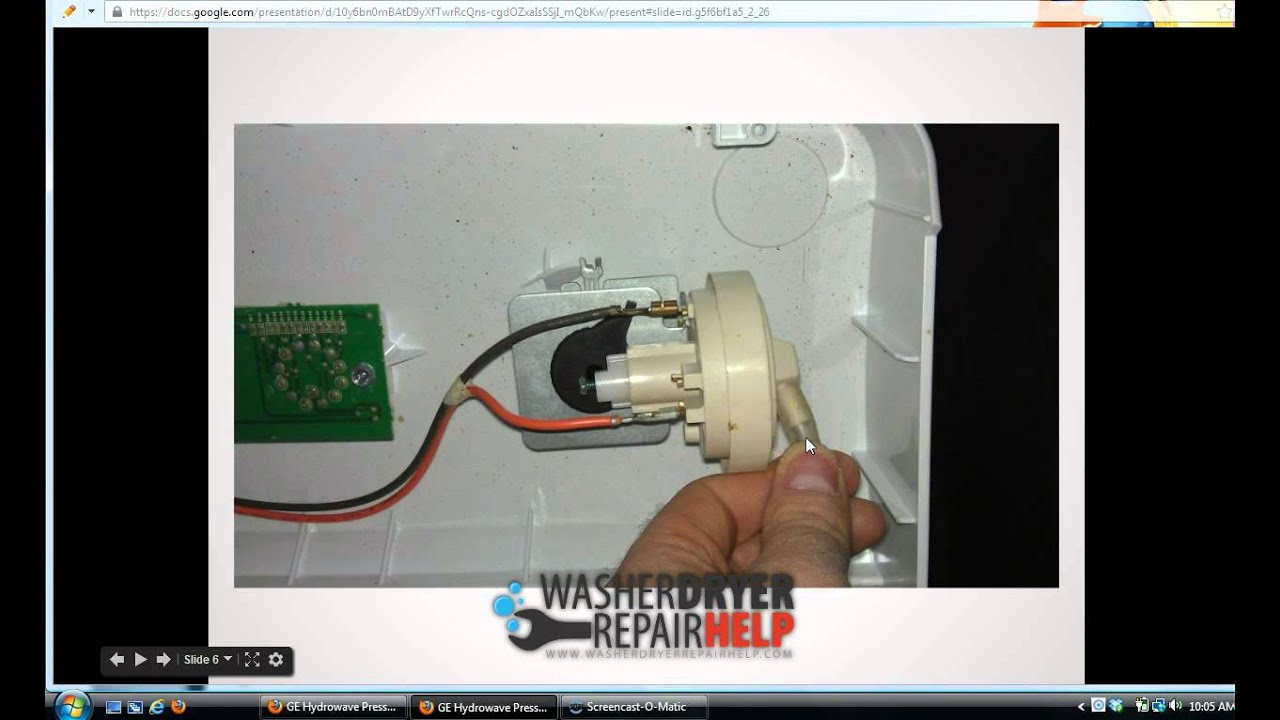 How To Replace Pressure Switch On Ge Hydrowave Washing